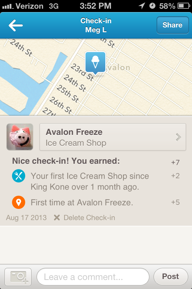 My dignity is worth more than seven Foursquare points.
