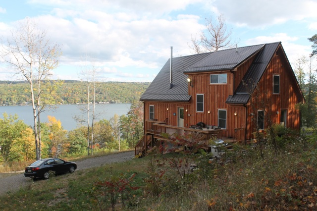 We stayed in this awesome AirBnb on Keuka Lake. House = can cook your own food. Win.