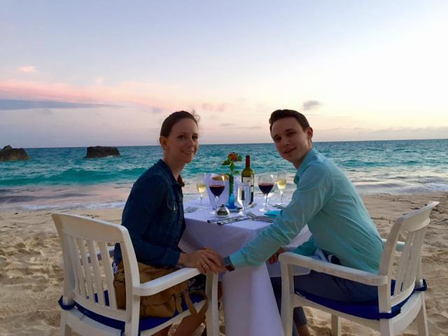 Dinner on the beach. Yes, please.